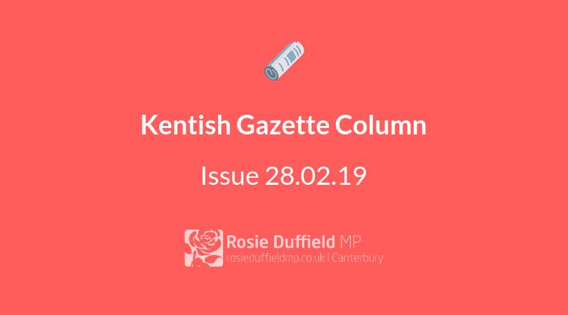 Kentish Gazette Column: Young People